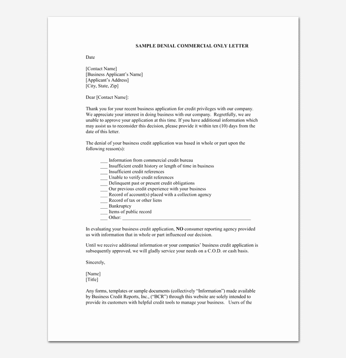 Mortgage Denial Letter Sample Awesome Loan Rejection Letter Template 10 Samples & Examples