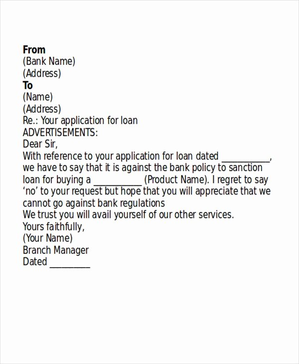 Mortgage Denial Letter Sample Inspirational How to Write the Reject Offer From Home Broker