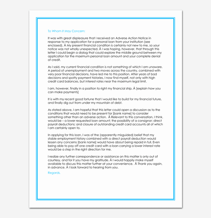 Mortgage Denial Letter Sample Luxury Loan Rejection Letter Template 10 Samples & Examples