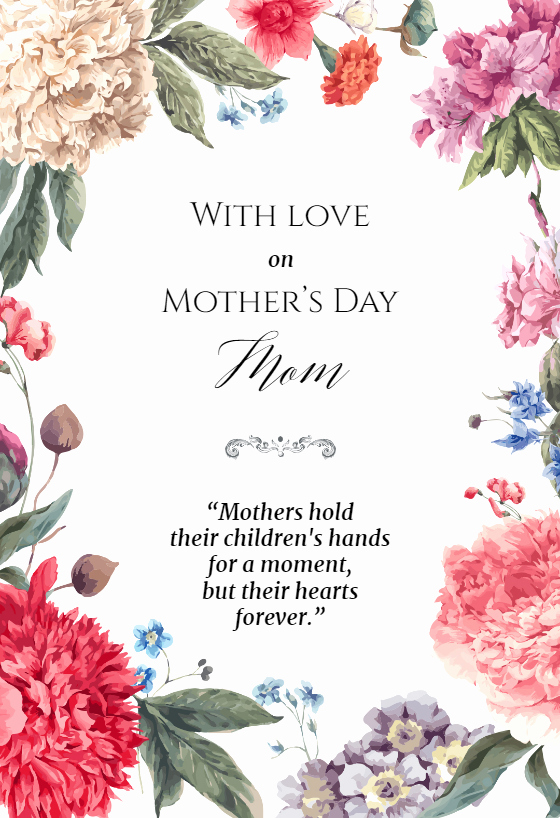 Mother Day Invitation Card Awesome Garden Glory Mother S Day Card Free