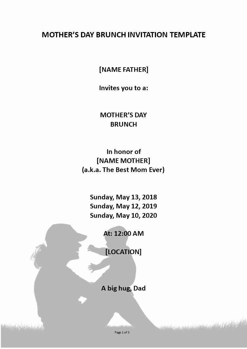 Mother Day Invitation Card Awesome Mothers Day event Invitation