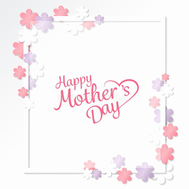 Mother Day Invitation Card Beautiful Mother S Day Background Vector Stock Vector