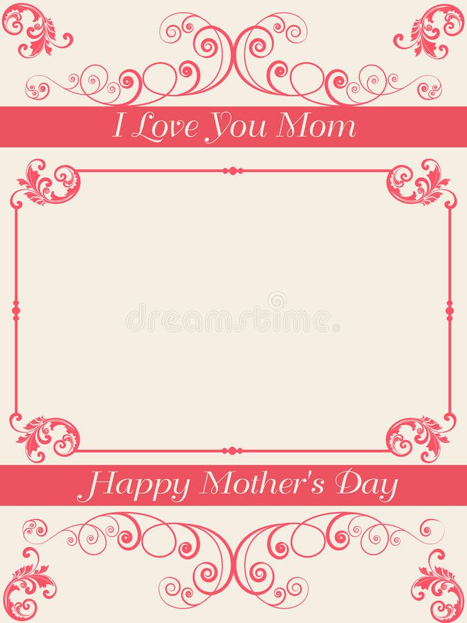 Mother Day Invitation Card Best Of Greeting Invitation Card for Happy Mothers Day Stock