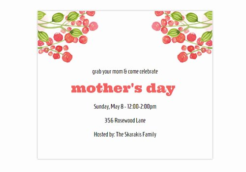 Mother Day Invitation Card Best Of Mother S Day Line Invitations