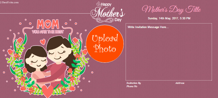 Mother Day Invitation Card Fresh Free Mother Day Invitation Card & Line Invitations