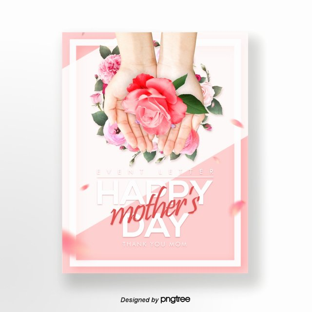 Mother Day Invitation Card Fresh Fresh and Beautiful Mothers Day Happy Publicity Card