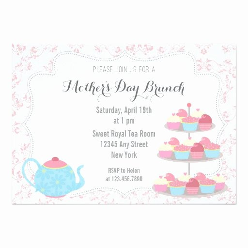 mothers day brunch invitation floral pink invitation card