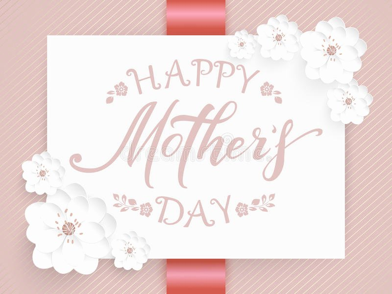 Mother Day Invitation Card Inspirational Elegant Vector Happy Mothers Day Card Vector Invitation