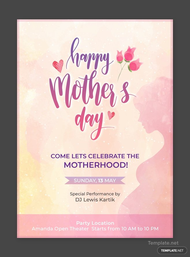 Mother Day Invitation Card Lovely Free Mother S Day Invitation Template In Adobe Shop