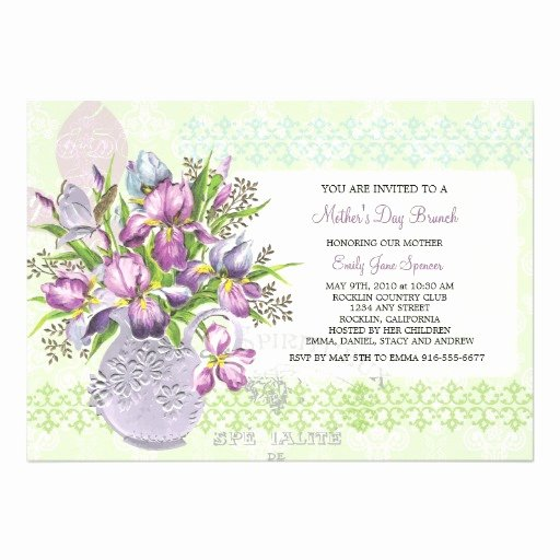 Mother Day Invitation Card Lovely Mother S Day Lunch Reunion Elegant Floral Invite