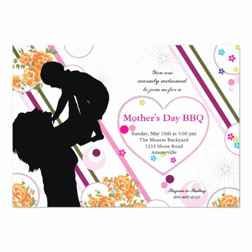Mother Day Invitation Card Lovely Mother S Love Mother S Day Invitation
