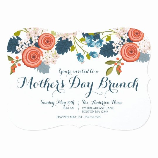 Mother Day Invitation Card Lovely Wild Garden Floral Mother S Day Brunch Invitation