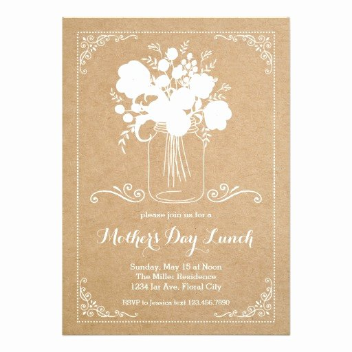 Mother Day Invitation Card Luxury Rustic Mother S Day Invitation Card Ladyprints