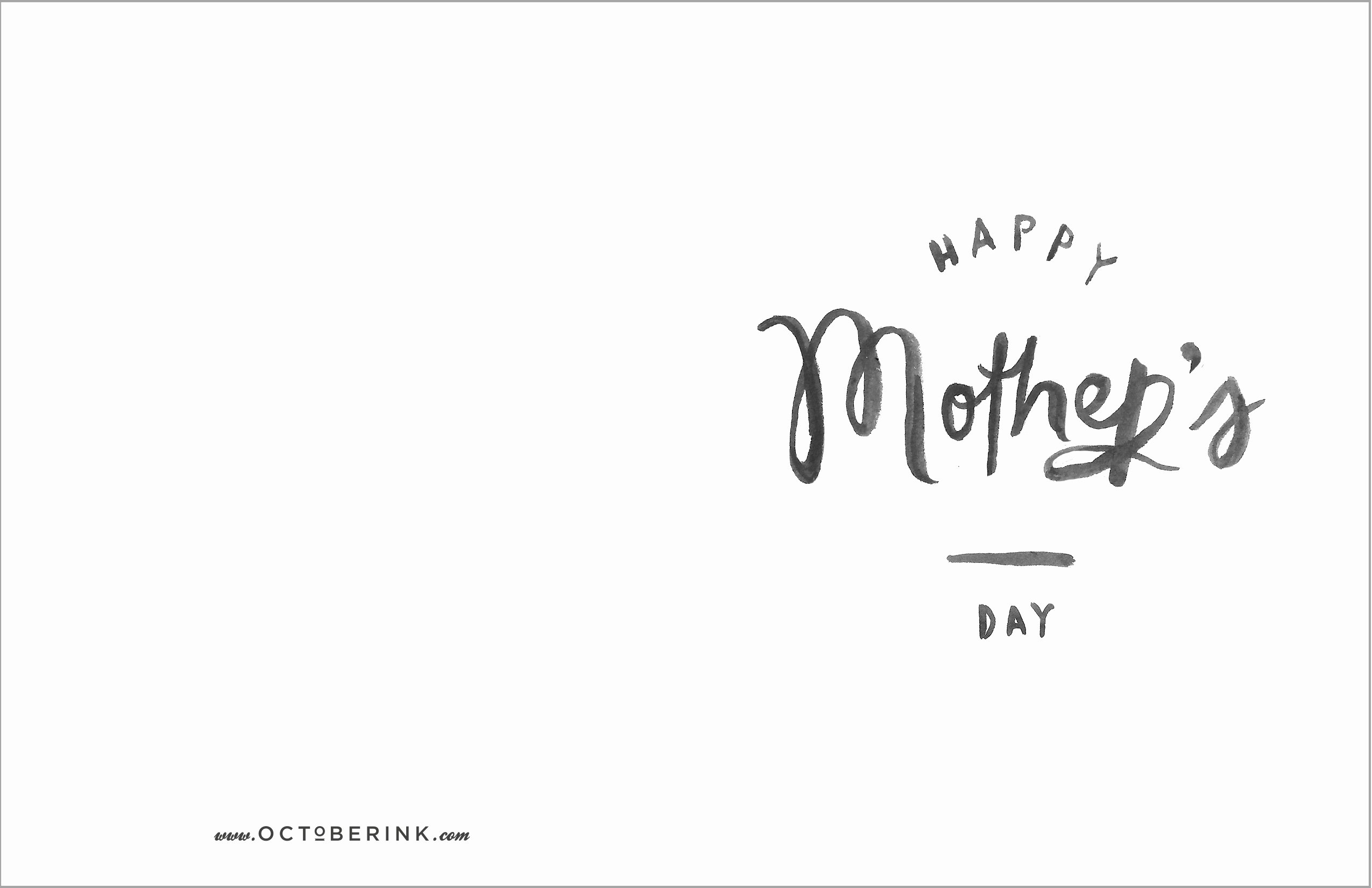 Mothers Day Card Template Awesome Free Mother S Day Printables October Ink
