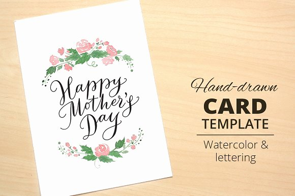 Mothers Day Card Template Awesome Happy Mother S Day Card Template Card Templates On