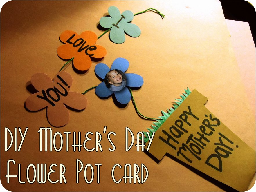 Mothers Day Card Template Beautiful Karewares Diy Revisited Mother S Day Flower Pot with