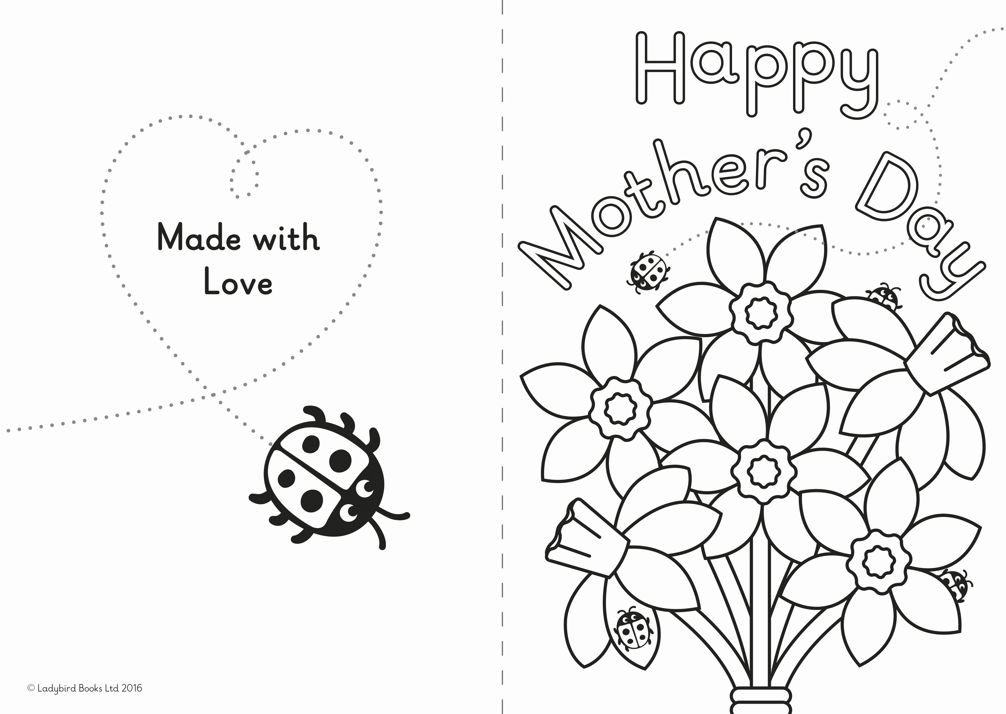 Mothers Day Card Template Best Of A Diy Mother's Day Card for Little Ones – Ladybird Blog