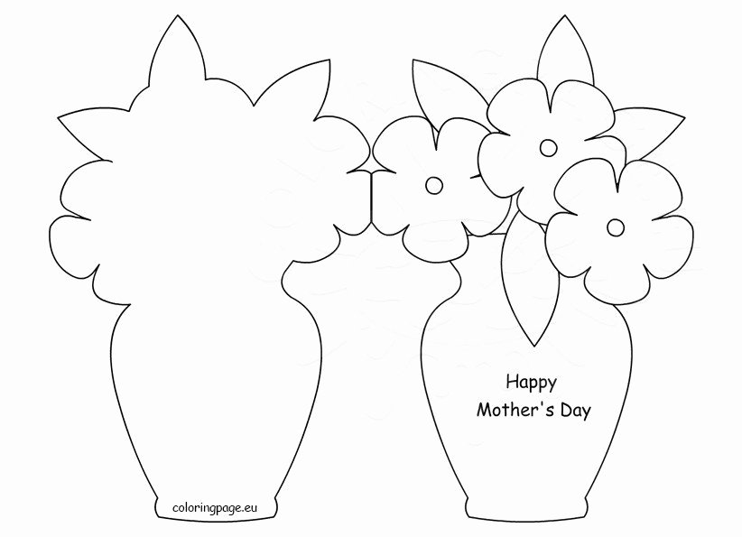 Mothers Day Card Template Best Of Happy Mother's Day Card Template – Coloring Page