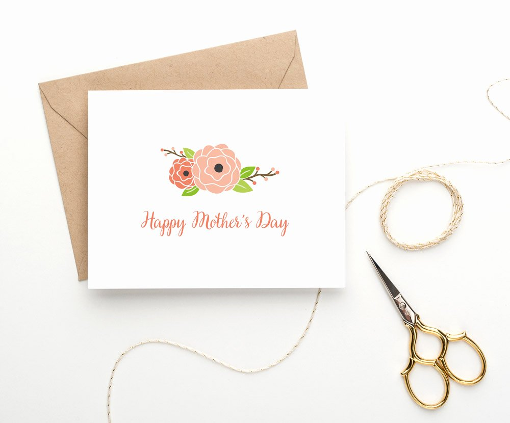 Mothers Day Card Template Inspirational Mother S Day Card Roses Card Templates On Creative Market
