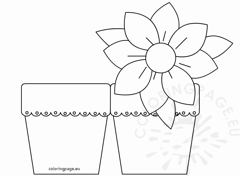Mothers Day Card Template Lovely Mother's Day Flower Card – Coloring Page