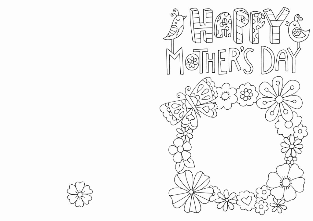 Mothers Day Card Template Luxury Free Mother S Day Card Colouring Download Hobbycraft Blog
