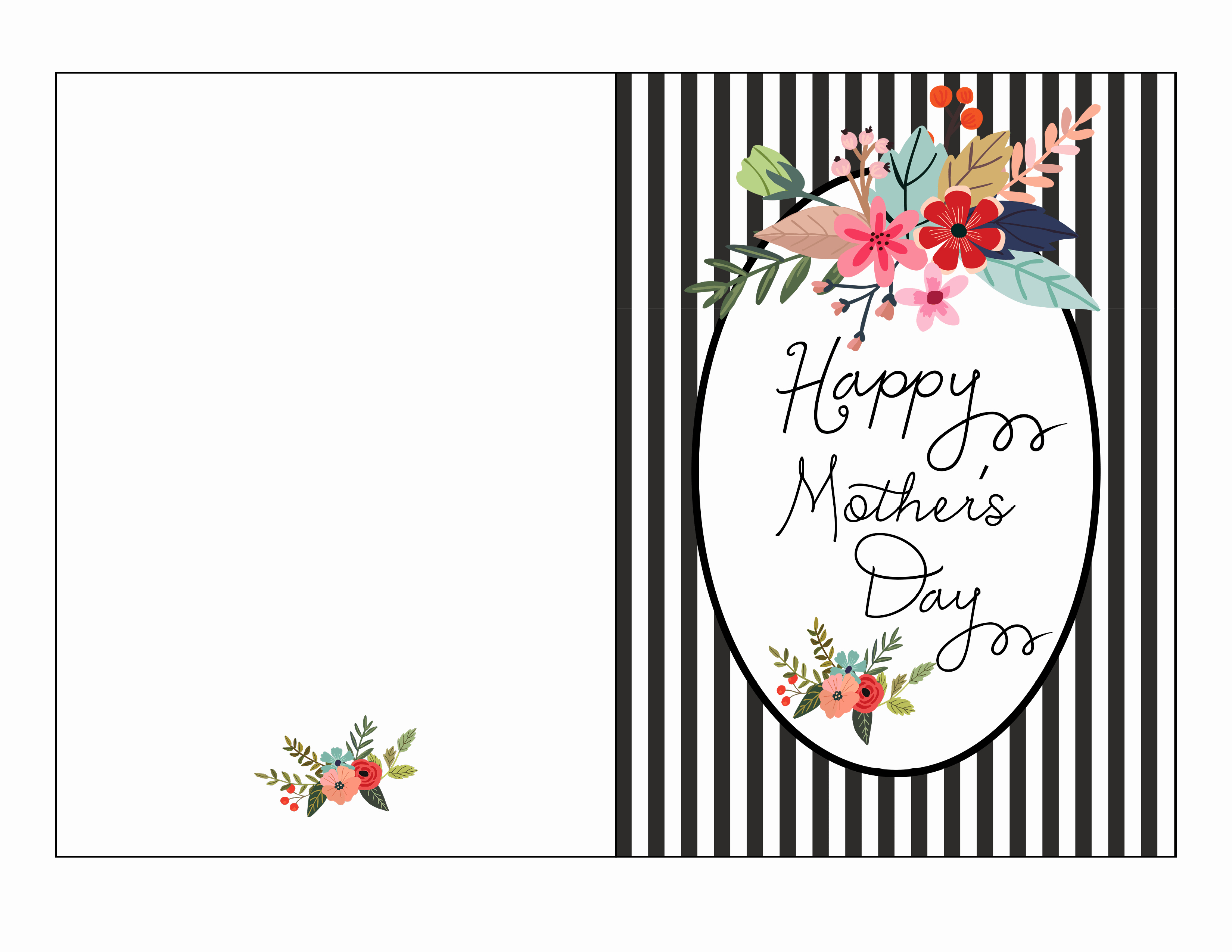 Mothers Day Card Template Luxury Free Mother S Day Card Printable Fab Fatale