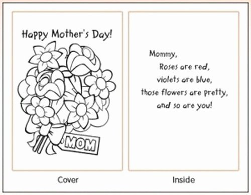 Mothers Day Card Template Unique Easy Printable Mothers Day Cards Ideas for Kids