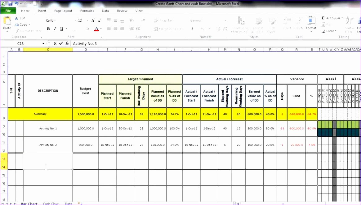 Ms Excel Chart Templates Unique 8 Microsoft Excel Cash Flow Template Exceltemplates