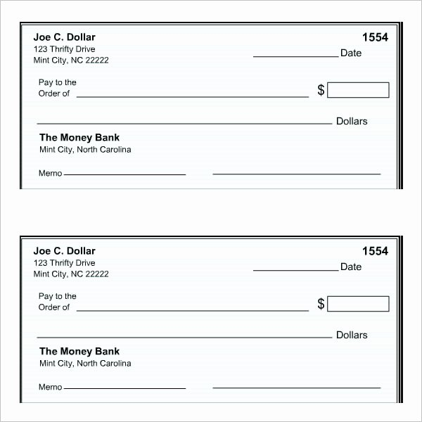 Ms Word Check Template Lovely 27 Blank Check Template Download [word Pdf] Templates