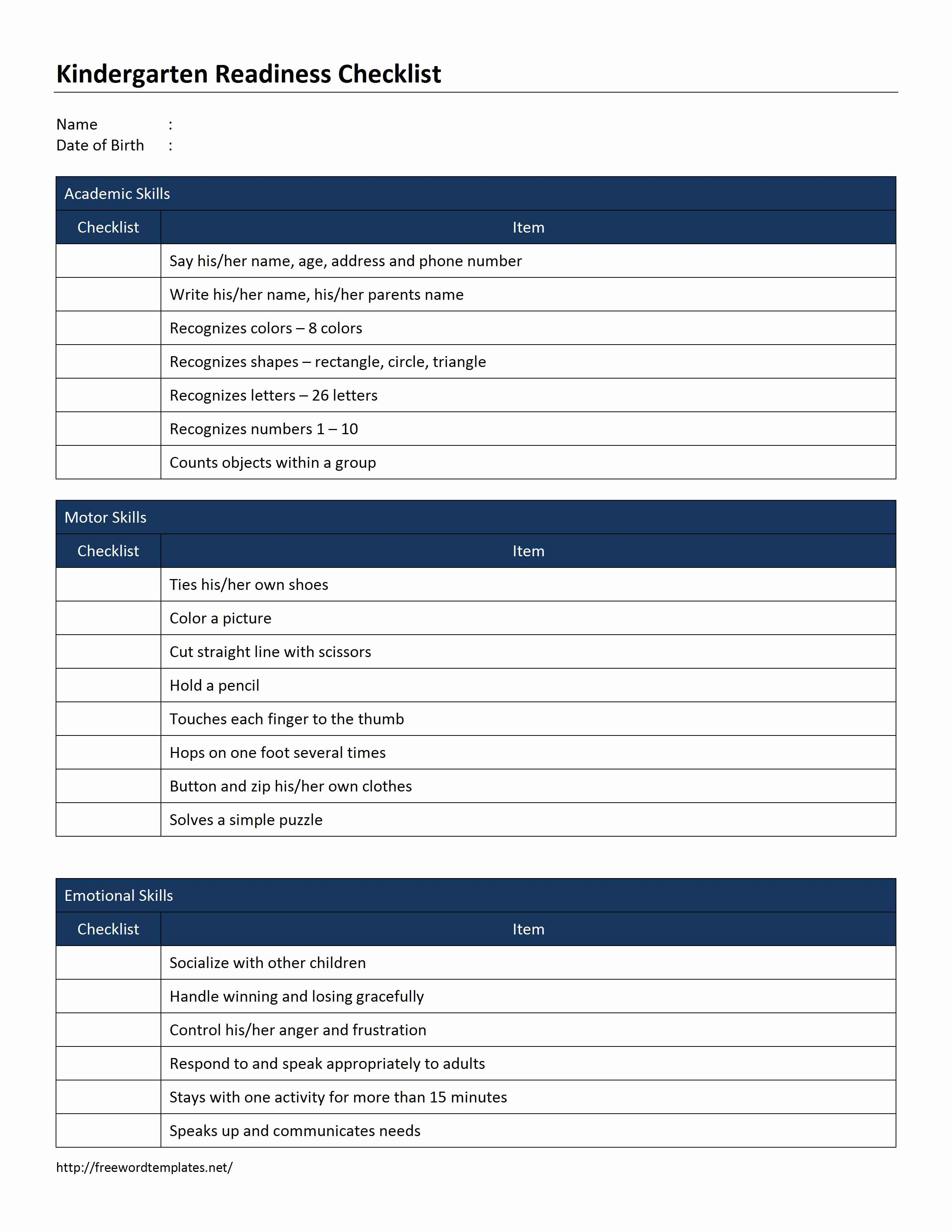 Ms Word Check Template Lovely Checklist Template