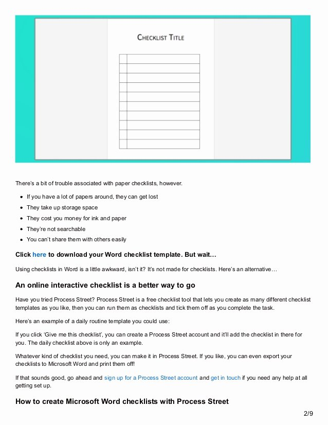 Ms Word Check Template Unique Download Your Free Microsoft Word Checklist Template