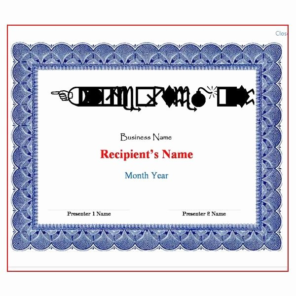 Ms Word Diploma Template Awesome Free Certificate Templates for Word How to Make