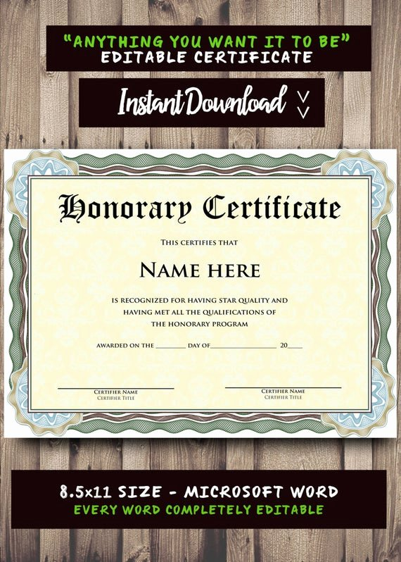 Ms Word Diploma Template Awesome Printable Certificate Template Microsoft Word Editable