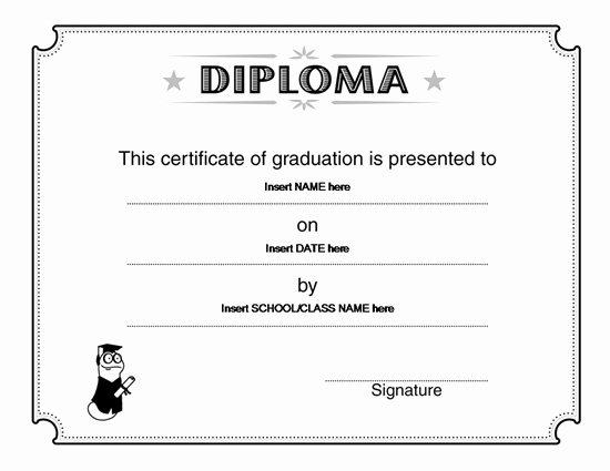 Ms Word Diploma Template Best Of Microsoft Word Super Student Certificate Template