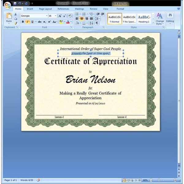 Ms Word Diploma Template Inspirational Certificate Of Appreciation Template In Word