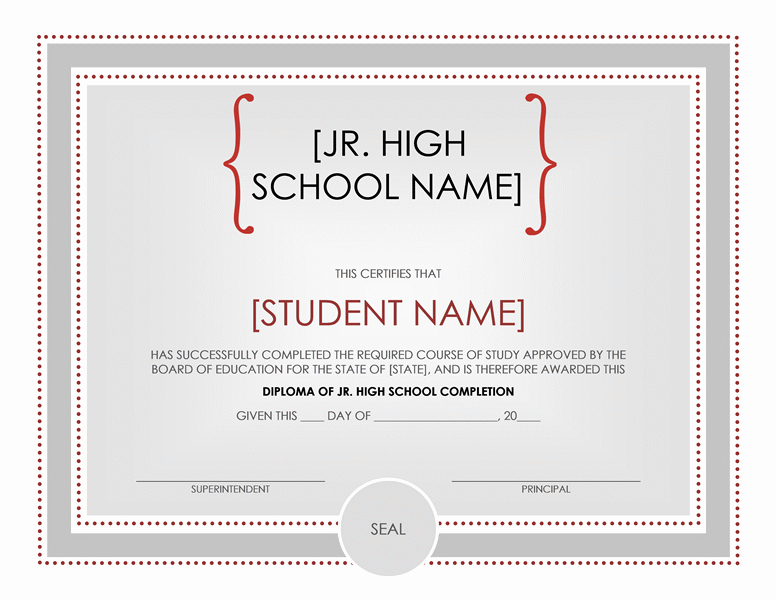 Ms Word Diploma Template Luxury High School Certificate Template Word Templates