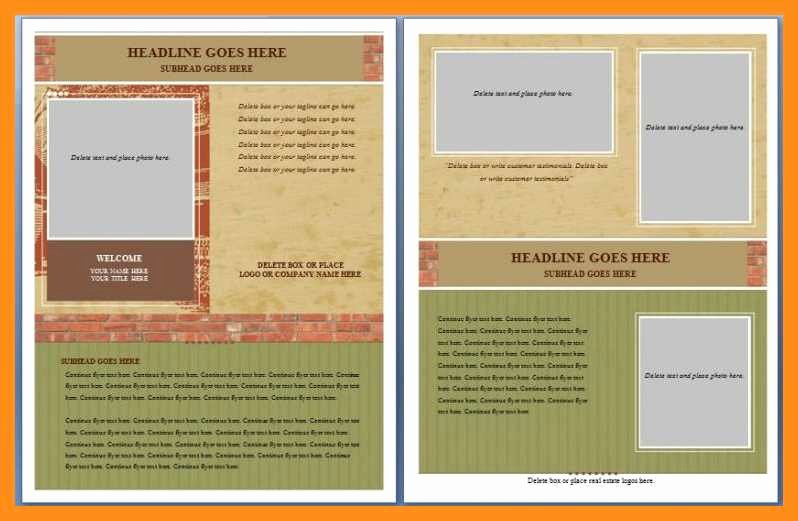 Ms Word Flyer Templates Free Fresh 12 13 Microsoft Word Handout Templates