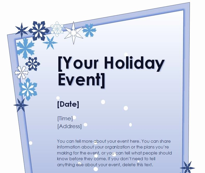 Ms Word Flyer Templates Free New Free Christmas Flyer Templates Microsoft Word – Festival