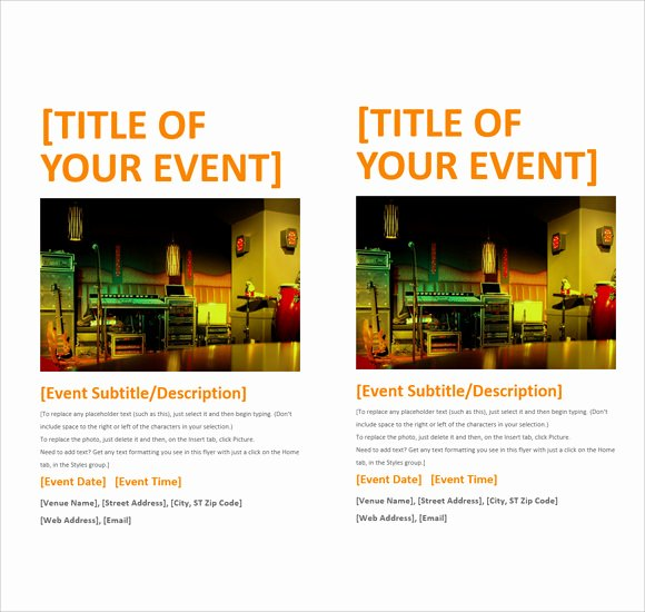 Ms Word Flyer Templates Free Unique 12 Microsoft Flyer Templates Download Free Documents In
