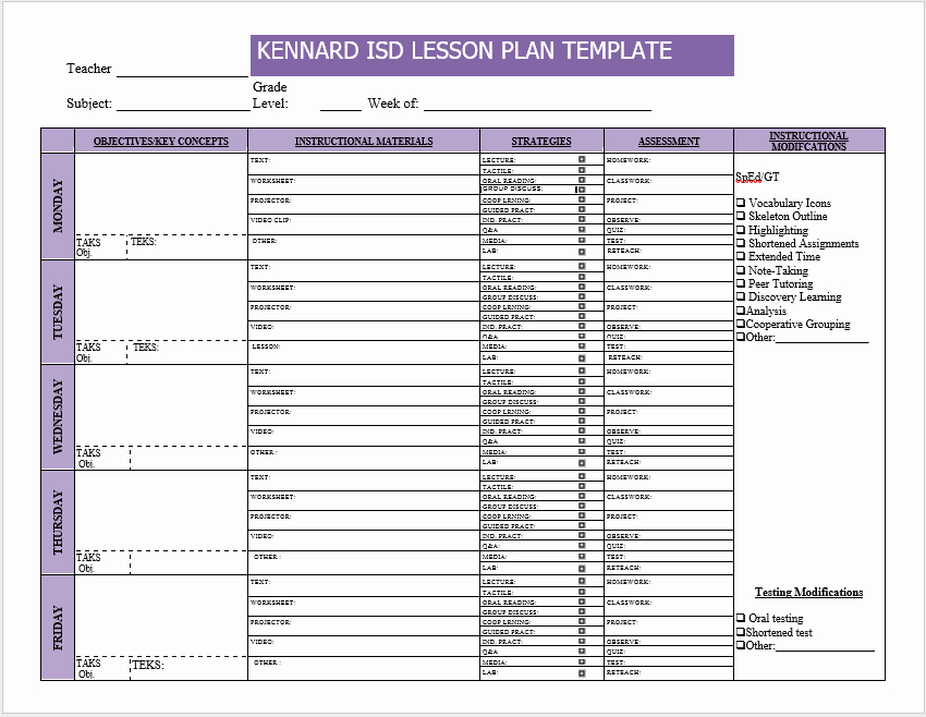 Ms Word Lesson Plans Elegant 39 Free Lesson Plan Templates Ms Word and Pdfs