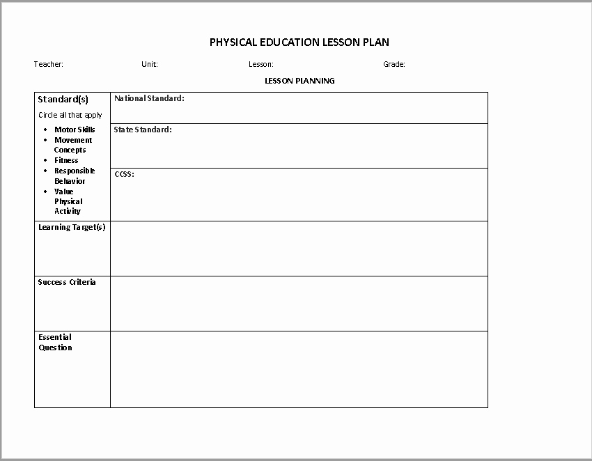 Ms Word Lesson Plans Lovely 39 Free Lesson Plan Templates Ms Word and Pdfs