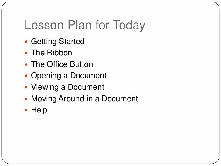 Ms Word Lesson Plans New Beginners Microsoft Fice Word 2007 Lesson 1