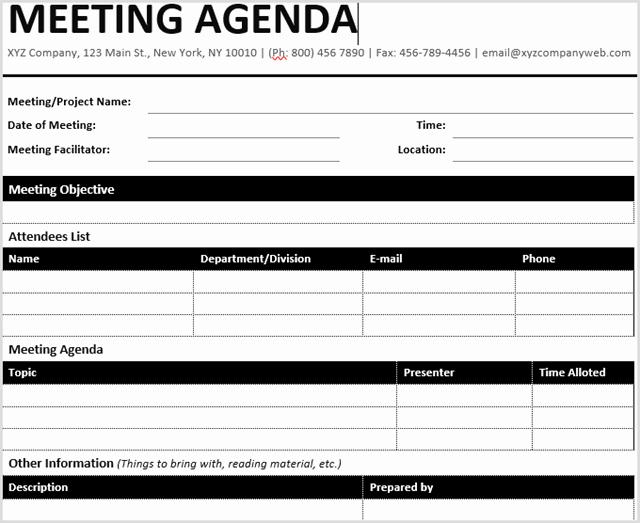 Ms Word Meeting Agenda Template Beautiful 15 Best Meeting Agenda Templates for Word
