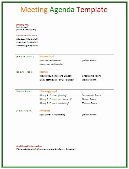 Ms Word Meeting Agenda Template Beautiful 8 Best Agendas Images On Pinterest