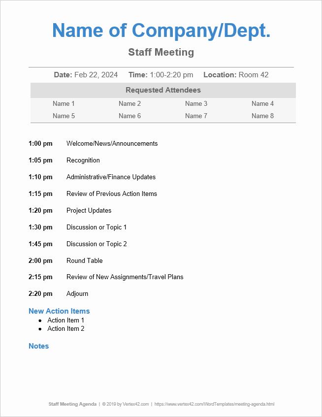Ms Word Meeting Agenda Template Fresh 10 Free Meeting Agenda Templates