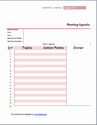 Ms Word Meeting Agenda Template Inspirational Ms Word Meeting Agenda Templates