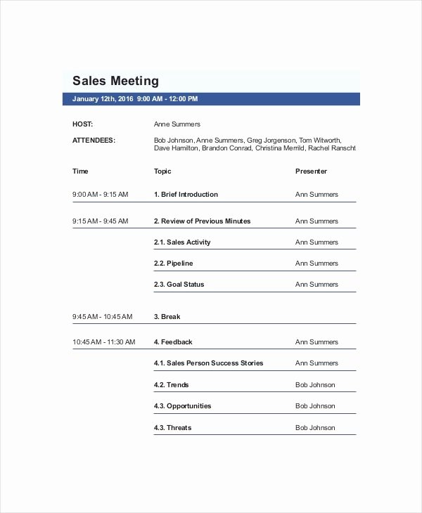 Ms Word Meeting Agenda Template Lovely 15 Best Meeting Agenda Templates for Word