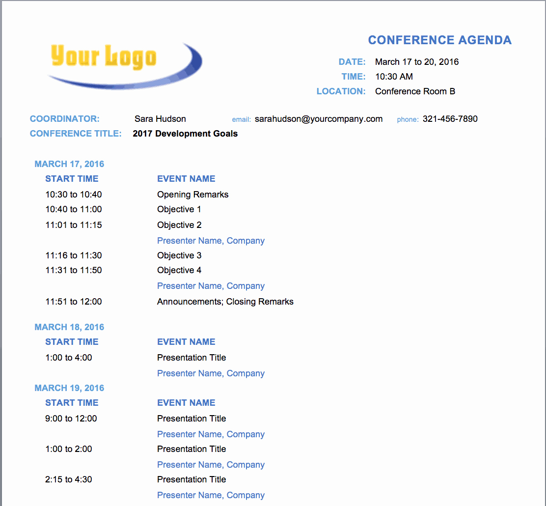 Ms Word Meeting Agenda Template Luxury 10 Free Meeting Agenda Templates for Microsoft Word