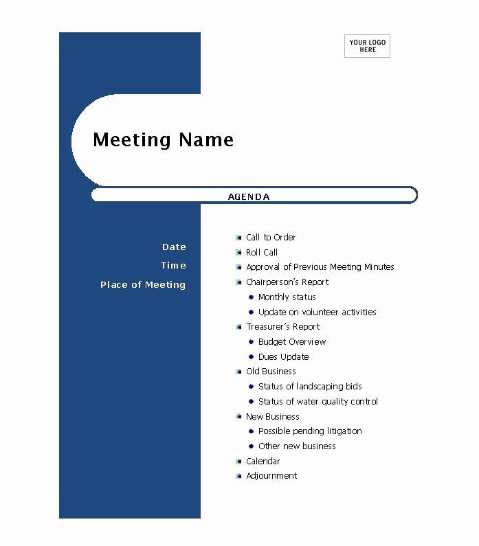Ms Word Meeting Agenda Template Luxury 51 Effective Meeting Agenda Templates Free Template