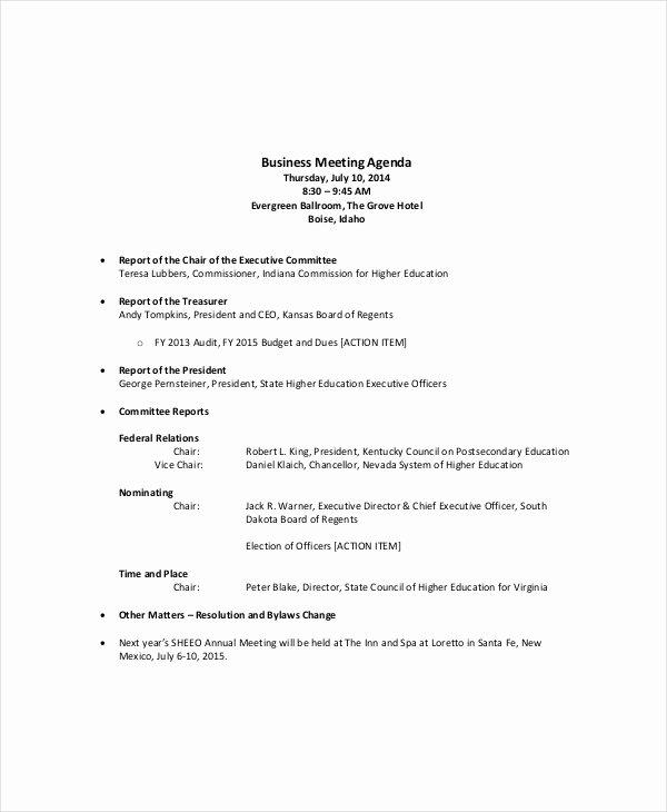 Ms Word Meeting Agenda Template Unique Microsoft Meeting Agenda Template – 10 Free Word Pdf